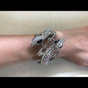 Crystal Double gecko bracelet